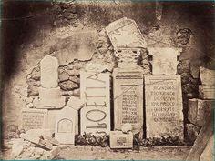 Félix-Jacques Antoine Moulin, Archeologic survey. Photography of ancient Roman inscriptions from Cherchell, 1856.