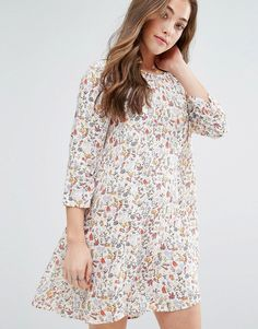 Buy it now. Vero Moda Elena Floral Print Babydoll Dress - Multi. Casual dress by Vero Moda, Super lightweight woven fabric, Round neck, All-over floral print, Three-quarter-length sleeves, Button-keyhole back, Regular fit - true to size, Dry clean, 100% Viscose, Our model wears a UK XS/EU 36/US 4 and is 170cm/5'7� tall. ABOUT VERO MODA Danish fashion house, Vero Moda, made their mark on the fashion scene by using top models Kate Moss and Gisele Bundchen in their marketing campaigns. With…