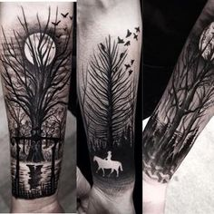 """Yay! Work by @brunosantostattoo  Follow & hashtag #Yaytattoos to become a featured artist!  OUR THEME THIS WEEK IS TREES. Tag us in your tree tattoos to…"""