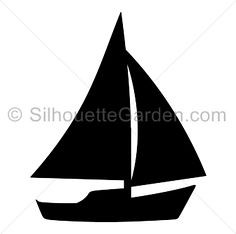 Sailboat silhouette clip art. Download free versions of the image in EPS, JPG, PDF, PNG, and SVG formats at http://silhouettegarden.com/download/sailboat-silhouette/