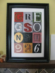 {Super Cool Wall Art} - plus link to amazing photo stream with TONS of pictures of letters to make your own!