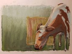 Not sure whether this is shareable at all ... Need to work on making the  background a lot more interesting #pastelart #pastelpainting #pasteldrawing #pastelcow #cow #cowart #cowdrawing #cows #bestpastelart #sketch #instasketch #doodle #pasteldoodle #instaart #pastelartist #drawing #softpastel #rembrandtpastels #igart #igartist
