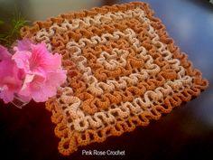 \ PINK ROSE CROCHET /: Pega Panelas de Crochê - Crochet Wiggly Maze Pot Holders