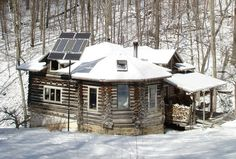 off the grid in winter