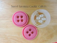 Button Cookie Cutter by SweetSavannaCookies on Etsy