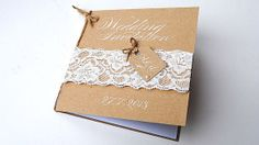 Vintage Lace wedding invitations with by Calligraphystore on Etsy, £4.80