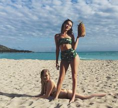 "sabrinushka: ""Clexa at the beach AU (Is it too soon? XD) """