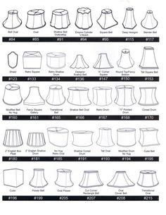 Various Lamp Shade Shapes