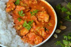 Kurczak maślany - indyjski butter chicken - niebo na talerzu Garam Masala, Chana Masala, Mango, Butter Chicken, Tofu, Salsa, Healthy, Ethnic Recipes, Blog