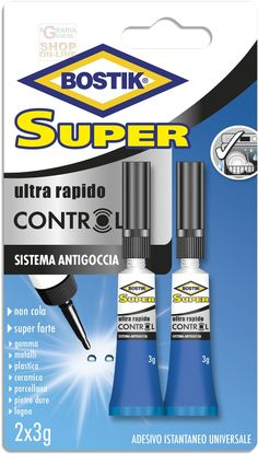 BOSTIK SUPERCONTROL COLLA ADESIVA LIQUIDA SUPER FORTE GR. 3 PZ. 2 http://www.decariashop.it/adesivi/21117-bostik-supercontrol-colla-adesiva-liquida-super-forte-gr-3-pz-2.html