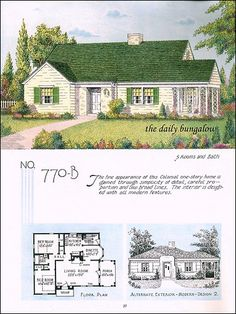 Traditional House Plans, Traditional Homes, Minimal Traditional, 1940s Home, Farmhouse Floor Plans, Sims House Design, Vintage House Plans, House Blueprints, Best House Plans