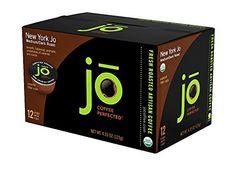 NEW YORK JO: 12 Cup Organic Medium Dark Roast Single Serve Coffee for Keurig K-Cup Brewers, Keurig 1.0