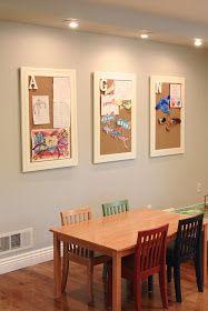 simply organized: simple kids art display