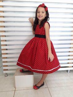 Vestido Ladybug + brinde 1-6 anos