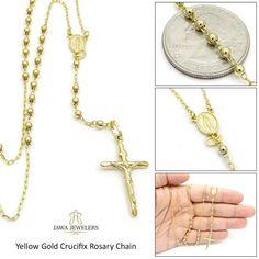 14k Two-tone Diamond-cut Passion Crucifix Pendant Length 41 Width 22