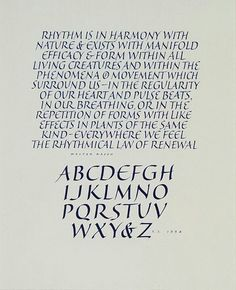 Calligraphy by Fred Salmon.