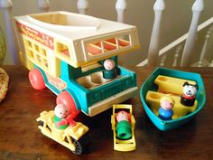 Vintage Fisher Price Little People Camping Playset by WrathofRa, $78.50