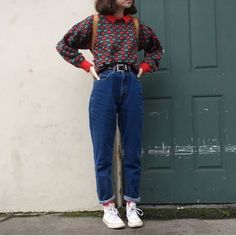 45 Super Ideas For Moda Vintage Retro Inspiration Fashion Mode Grunge, Hipster Grunge, Grunge Look, Grunge Style, 80s Fashion, Look Fashion, Korean Fashion, Trendy Fashion, Fashion Outfits