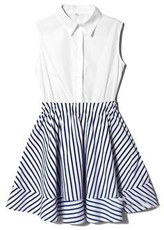 Nautical Stripes Shirt Dress