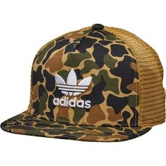 fbd17c2f adidas Originals Camouflage Trucker Snapback Cap Dark Sahara