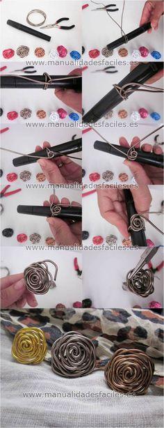 Paso a paso para elaborar este anillo con alambre