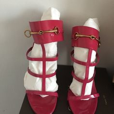 Gucci This Is Brand  New Gucci Women's sandals with Box & Dust Bag .. Made in Italy  Size : 39 1/2 Horsebit Gladiator Women's Heels Sandals Shoes Ursula Gucci Shoes Heels