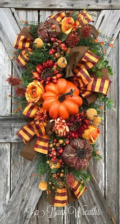 Fall Swag, Autumn Swag, Deluxe Fall Wreath, Fall Wreath, Fall Decor, Autumn Wreath, Autumn Decor, Halloween Wreath  Make your door/wall or entry and inviting welcome to the warm colors of Autumn. A Stunning Fall beauty, each material used to create this head turner is rich in fine details! A rustic mix of burgundy, burnt orange, copper, mustard yellow and burlap makes such an inviting statement for Fall! Made on a wired pine frame and filled with a gorgeous assortment of lush patterned r...