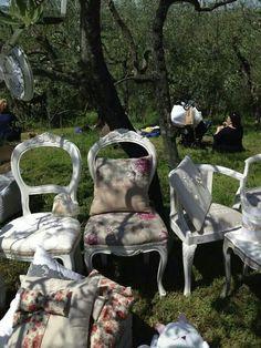 sedia shabby chic legno bianco