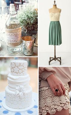 LACE! and burlap!