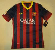 13/14 Barcelona home jersey Thailand quality and wholesale price for football jerseys. please contact with us, cnxytrade86@hotmail.com