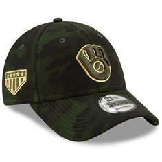 outlet store 66430 f6488 Milwaukee Brewers New Era 2019 MLB Armed Forces Day 9FORTY Adjustable Hat -  Camo, Your