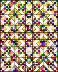 Scrappy Sunny Lanes pattern ~ use scraps from last years projects and make a new. - Scrappy Sunny Lanes pattern ~ use scraps from last years projects and make a new quilt for each yea - Scrap Quilt, Scrappy Quilt Patterns, Patchwork Quilting, 16 Patch Quilt, Quilt Blocks, Quilting Projects, Quilting Designs, Quilting Ideas, Paper Piecing
