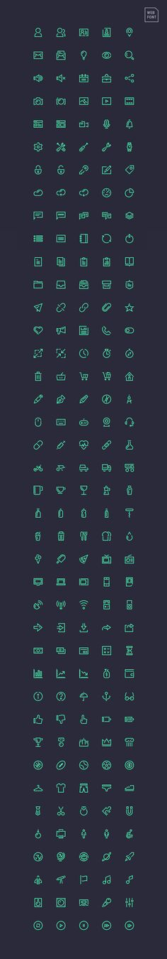The previously released Stroke Gap icons come now as webfont. You can get them in various formats...