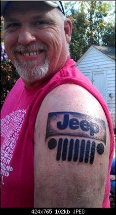Been thinking about my firrst tattoo for a while and finally decided on something. And who else out there has Jeep tattoos? Jeep Tattoo, Jeep Wrangler Forum, Jeep Grill, Jeep Brand, Custom Jeep, What's For Breakfast, Jeep Life, Jeeps, Cool Tattoos