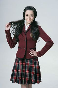 School Girl Dress, School Dresses, School Uniform Girls, Stylish Outfits, Fashion Outfits, Womens Fashion, Japanese School Uniform, Beautiful Chinese Girl, Prettiest Actresses
