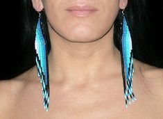 Shoulder Duster Earrings. Native American by LiLaJewelry4You
