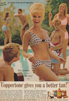 Coppertone Gives You A Better Tan - Elke Sommer