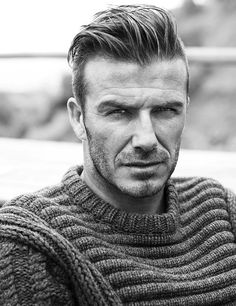 David Beckham in a Cabled Sweater by LV.  Need I say more?