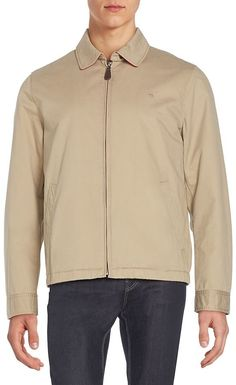Gant Men's Regular-Fit Cotton Golf Jacket - Beige/Khaki, Size xxxx-large