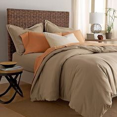 Organic Cotton Jersey Comforter Cover / Duvet Cover   The Company Store