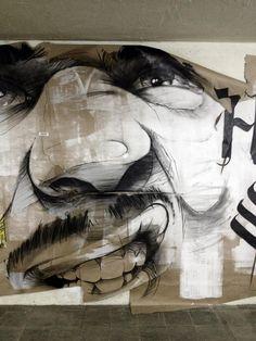 Street Art by Hombre SUK - Paradeplatz Mannheim - 2013 Best Graffiti, Street Art Graffiti, Banksy, Illustrations, Illustration Art, Les Stickers, Street Art Love, L'art Du Portrait, Street Art Utopia