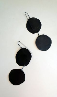 Oxidized Silver Pancake Earrings