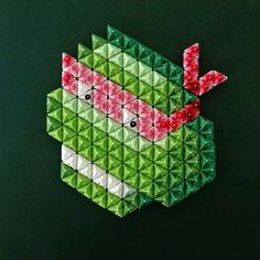 On instagram by patrick_nmpm #retrogaming #microhobbit (o) http://ift.tt/1ZBaZkS sewing #pixel #art #turtles #artworks can now be ordered at our shop.  #tmnt #geekart #teenagemutantninjaturtles #Raphael #Leonardo #Michelangelo #donatello #comics #pixelart #contemporaryart #mixedmedia #tortuesninja #papercraft #8bits #videogames #vintage  #retro #cowabunga #nmpm
