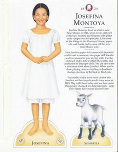 american Girl josefina paper dolls - Google Search