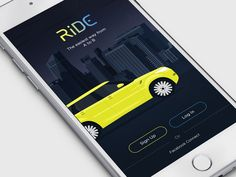 RIDE Splash Screen by Konstantin Vorontsov Splash Screen, Branding, App Ui, Mobile Design, Mobile Ui, App Icon, Screens, Design Inspiration, Design Web