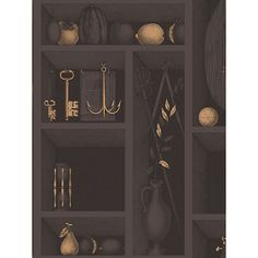 Nicchie Charcoal Gold Wallpaper 9711036 by Cole and Son Wallpaper. Take an additional off all wallpaper and fabric with Discount Code
