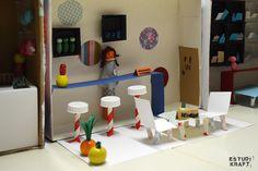"Model about the book ""Estación central"" / Maqueta interpretació del llibre ""Estación central"". Join us on www.facebook.com/estudikraft Crafts For Kids, Loft, Facebook, Bed, Projects, Furniture, Home Decor, Parking Lot, Crafts For Children"