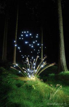 Lightmark No.15, Schwarze Berge, Rosengarten, Germany, Light Painting, Night Photography.