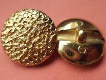 12 Knöpfe gold 20mm (1414) Jackenknöpfe Knopf