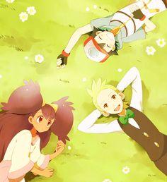 Iris, Ash, and Cilan